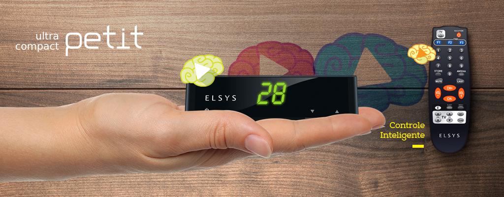 Receptor analógico Elsys Petit com controle inteligente