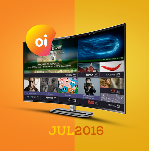 Programação da Oi TV em Julho