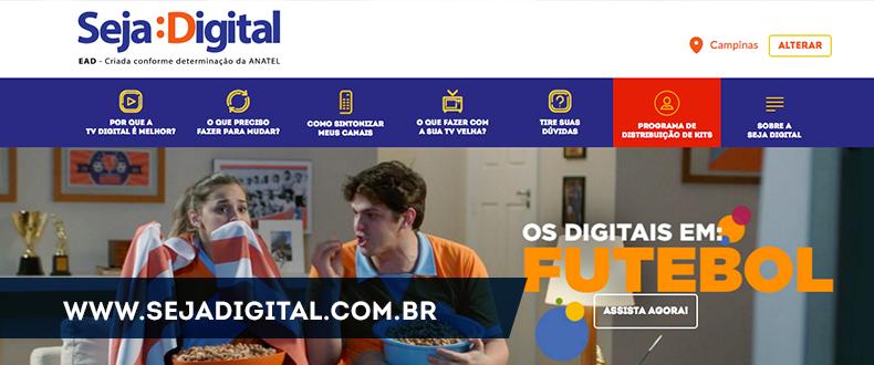 Kit gratuito de TV digital.