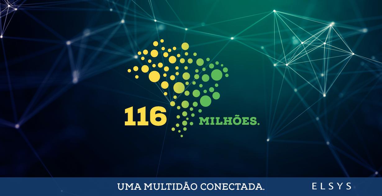 Uma multidão conectada. São 116 milhões de brasileiros navegando na internet.